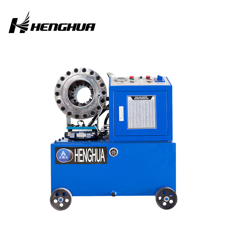 DX68W 220V 12 Sets Free Dies Hydraulic hose crimping machine with wheel/hose crimper